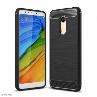 Xiaomi Redmi 5 Plus / Redmi Note 5  Carbon Case Rugalmas Cover TPU tok fekete